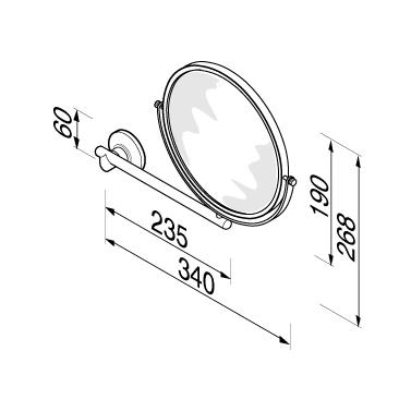 Specchio cosmetico ingranditore 124s non illuminati - Specchi ingranditori illuminati ...