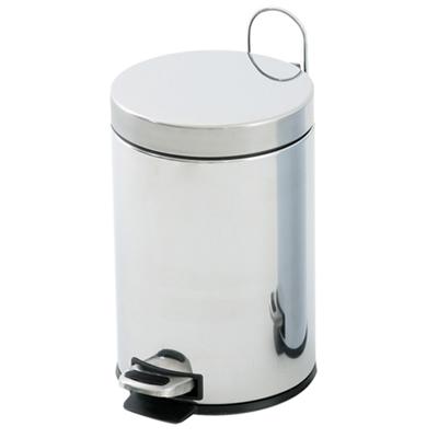 Cestino bagno acciaio inox cromato 5 litri a pedale - Accessori bagno acciaio ...