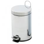 Cestino bagno acciaio inox cromato 5 litri a pedale E002040