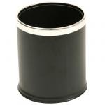 Cestino camera vinilico nero bordo cromato 9 litri E007745